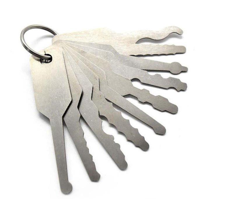 LOCKSMITHOBD 10in1 set lockpick full functional Master key to open door free shipping by China post