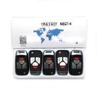 KEYDIY NB series NB27  3+1 button universal remote control 5pcs/lot  for KD-X2 mini KD