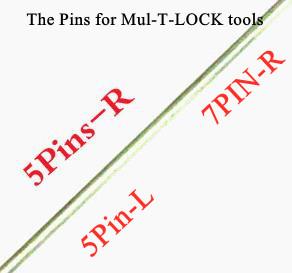 LOCKSMITHOBD HAOSHI original pin(needles) 10PCS/LOT for Haoshi MUL-T lock pick tool locksmith tool 5pin(R) 5pin(L) 7PIN Free Shipping By China post