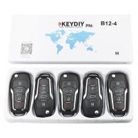 KEYDIY B series B12-3+1 button universal remote control 5pcs/lot  for KD-X2 mini KD for Ford style