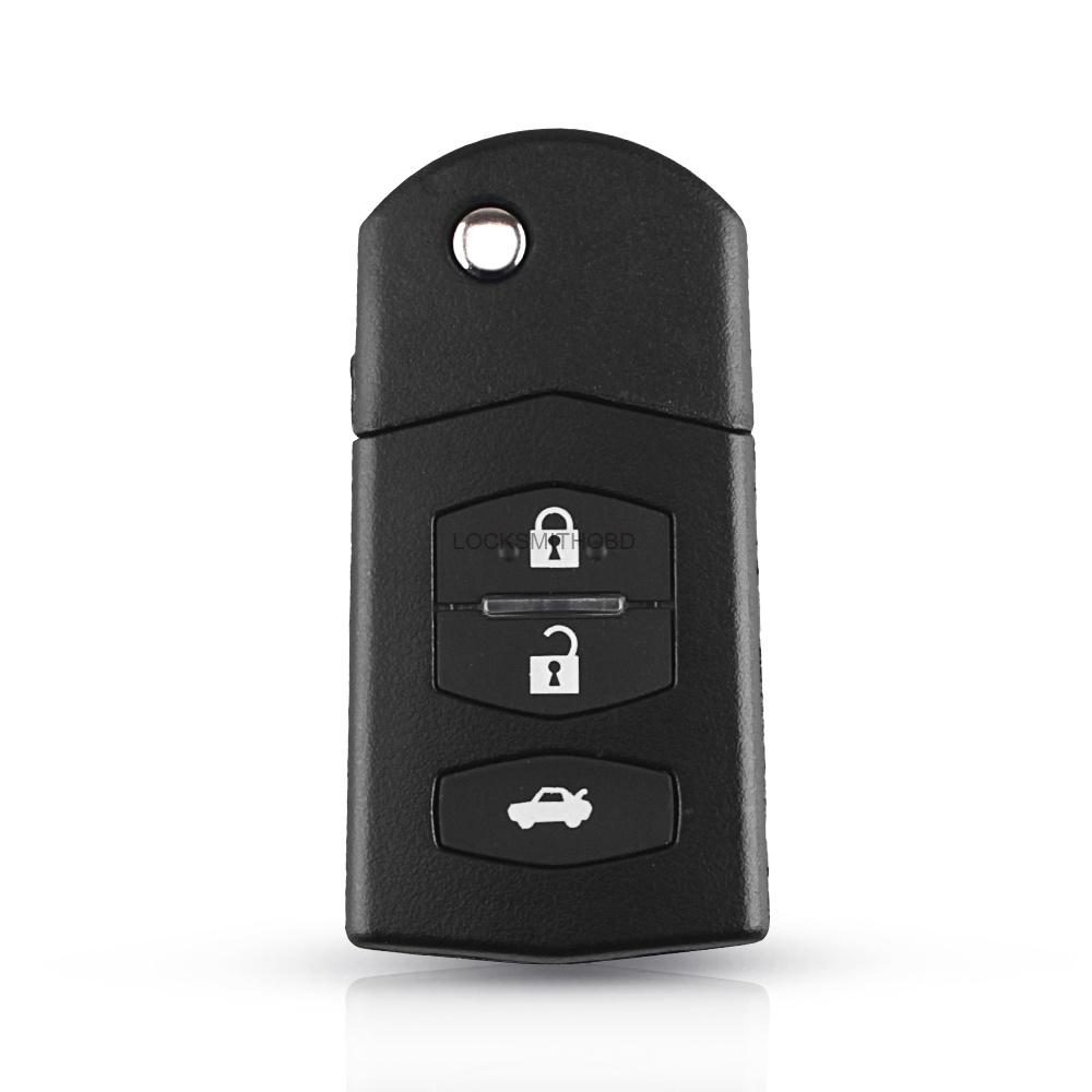 LOCKSMITHOBD 10PCS/LOT Mazda 3/2+1 Button Replacement Folding Key Case Remote Key  OEM