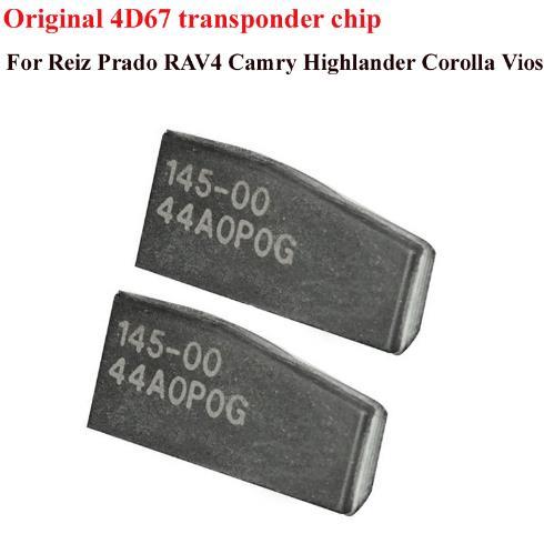 LOCKSMITHOBD Original Toyota 4D67 Transponder Chip for toyota  Free shipping