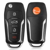 LOCKSMITHOBD 10PCS/LOT ْXhorse Universal Wireless Flip Remote Key for Ford Style 4 Buttons XNFO01EN