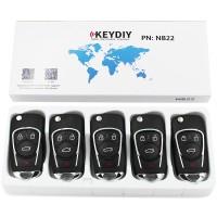 KEYDIY NB series NB22  3+1 button universal remote control 5pcs/lot  for KD-X2 mini KD