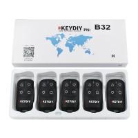KEYDIY 5pcs/lot  B32  4 Buttons  General Garage Door Remote for KD900 URG200 KD-X2/KD MINI Remote Generater