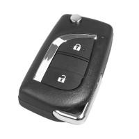 LOCKSMITHOBD 10PCS/LOT XHORSE Wired Universal Remote Key for Toyota 2 Button XKTO01EN for VVDI Key Tool