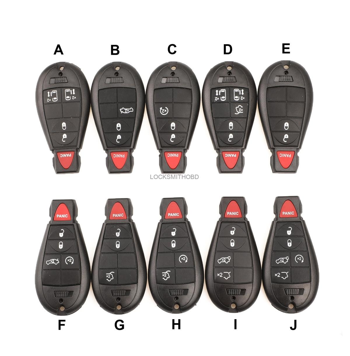 LOCKSMITHOBD 10PCS/LOT For Chrysler  remote key shell OEM