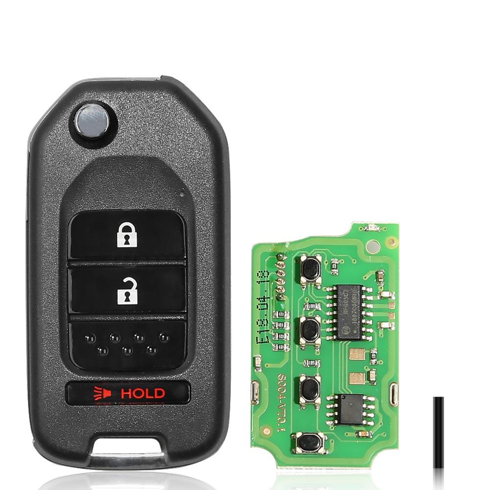 LOCKSMITHOBD 10PCS/LOT XHORSE XKHO02EN VVDI2 Fit For Honda Type Wired Universal Remote Key 3 Buttons