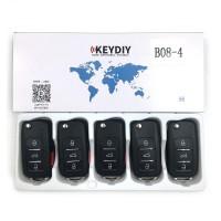 KEYDIY B series B08-3+1 button universal remote control 5pcs/lot  for KD-X2 mini KD