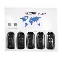 KEYDIY B series B07  3 button universal remote control 5pcs/lot  for KD-X2 mini KD