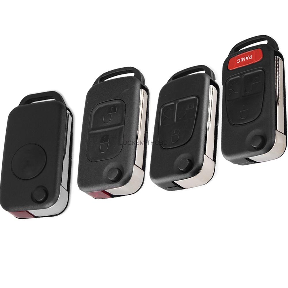 LOCKSMITHOBD 10PCS/LOT Car Case Remote Key For Mercedes Benz 1/2/3/4 Button OEM