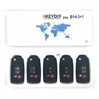 KEYDIY B series B14  3+1 button universal remote control 5pcs/lot  for KD-X2 mini KD For Mazda style