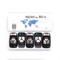 KEYDIY B series B27  3+1 button universal remote control 5pcs/lot  for KD-X2 mini KD