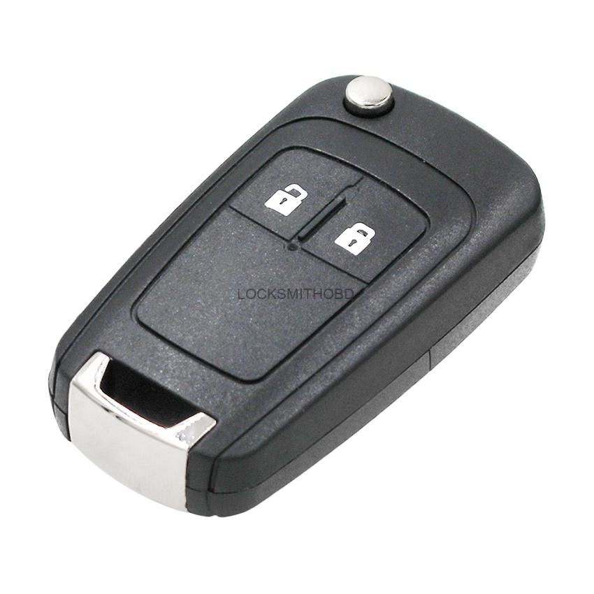 LOCKSMITHOBD 10PCS/LOT Opel 2 button key blank replace original key OEM