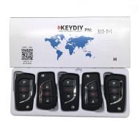 KEYDIY B series B13-2+1 button universal remote control 5pcs/lot  for KD-X2 mini KD For Toyota