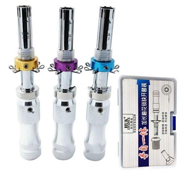 LOCKSMITHOBD HUK 3pcs/set 7 Pin Advanced Tubular Lock Pick 7.0mm,7.5mm,7.8mm Free Shipping By China post