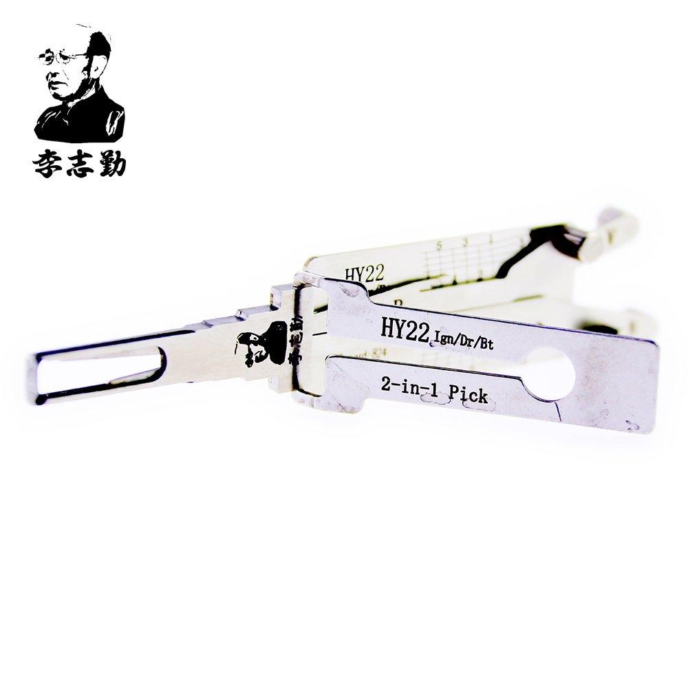ORIGINAL LISHI HY22  2-in-1 LockPick And Decoder For Hyundai K5 free shipping by china post