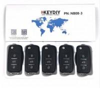 KEYDIY NB series NB08  3 button universal remote control 5pcs/lot  for KD-X2 mini KD