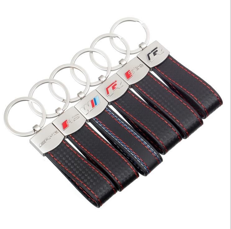 FOR BMW 3M、Audi Sline、RS 、VW R、AMG  car remote control key, car logo keychain decoration