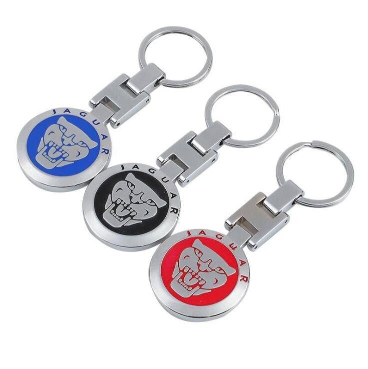 Car logo metal keychain is suitable for Jaguar key decoration