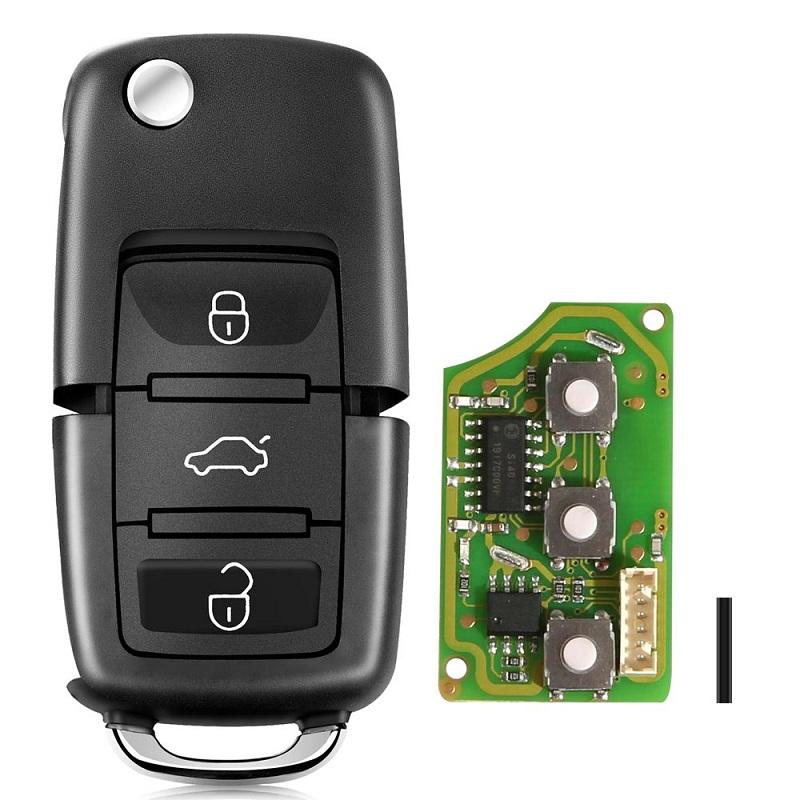 LOCKSMITHOBD 10PCS/LOT Xhorse B5 Style Remote Key 3 Buttons Board for VVDI Key tool XKB501EN