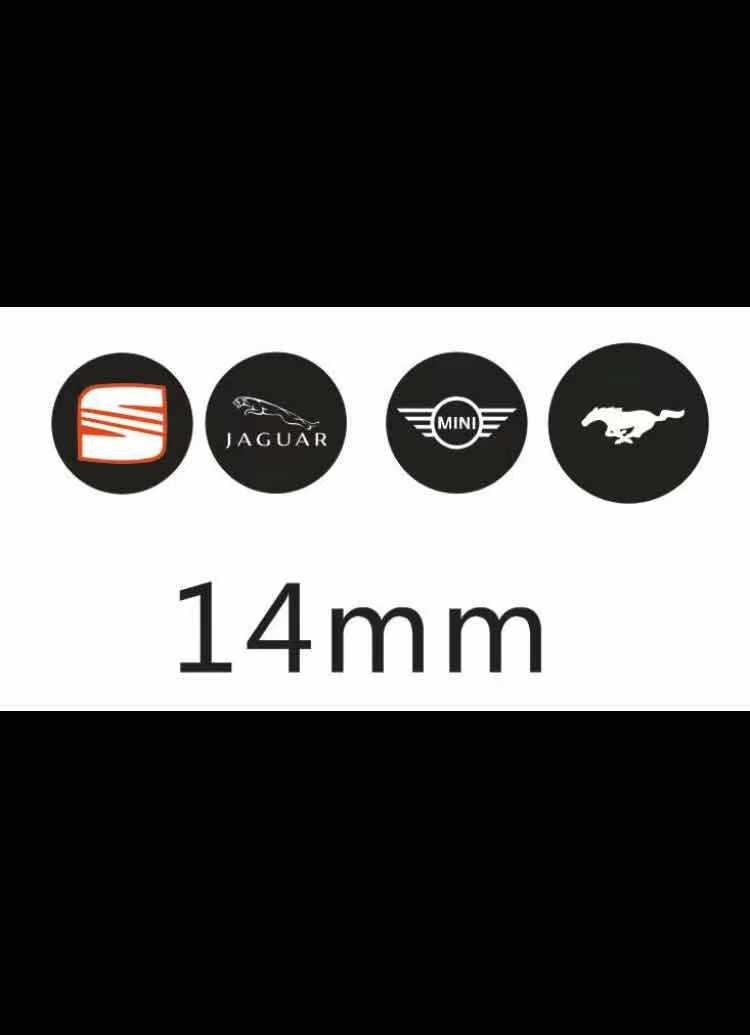 LOCKSMITHOBD SEAT/JAGUAR/BMW MINI/MUSTANG 14mm Round Gel Logo For KD Logo /KEYDIY VVDI REMOTE 100pcs free shipping