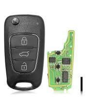LOCKSMITHOBD 10PCS/LOT ْXhorse XNHY02EN Wireless Universal Remote Key for HYUNDAI Flip 3 Buttons Remotes for VVDI Key