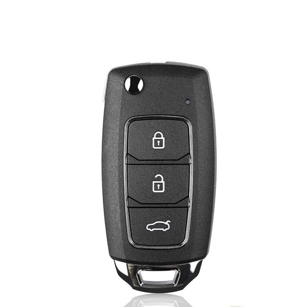 LOCKSMITHOBD 10PCS/LOT XHORSE XKHY05EN HYU.D Style Wired Remote Key Fob 3 Button for VVDI Key Tool