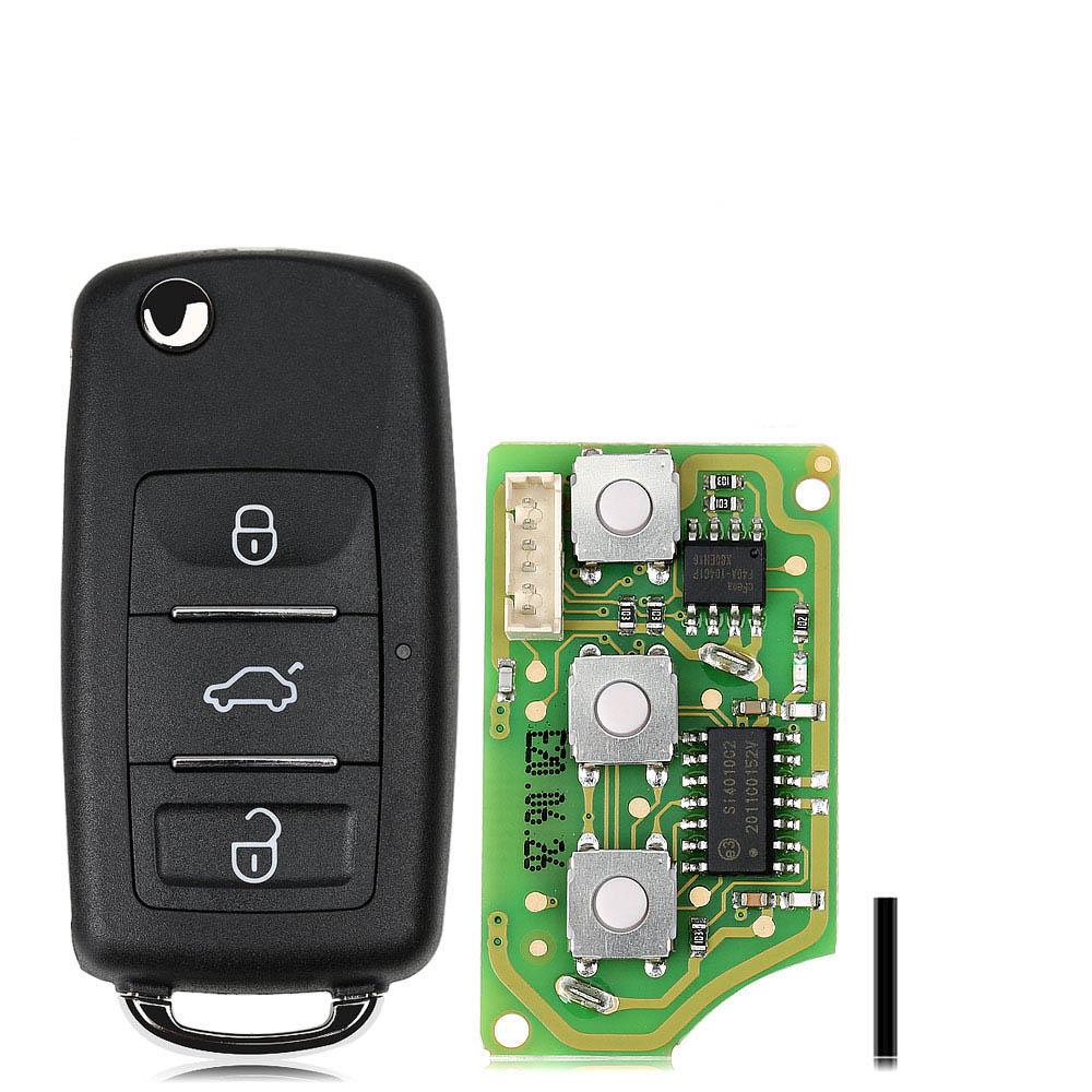LOCKSMITHOBD 10PCS/LOT Xhorse XKB510EN Universal Remote Key B5 Type 3 Button for VVDI VVDI2 Key Tool