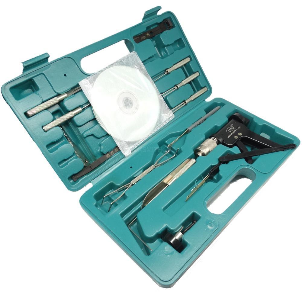 LOCKSMITHOBD  Jiangshi car lock opener tools full set without CD