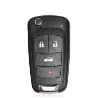 LOCKSMITHOBD 10PCS/LOT Xhorse VVDI2 XKBU01EN Wireless Remote Key Fob for Buick 4 Buttons Remotes Key