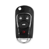 LOCKSMITHOBD 10PCS/LOT Xhorse VVDI Wire Flip Universal Remote Key For Buick Style 4 Buttons XKBU02EN