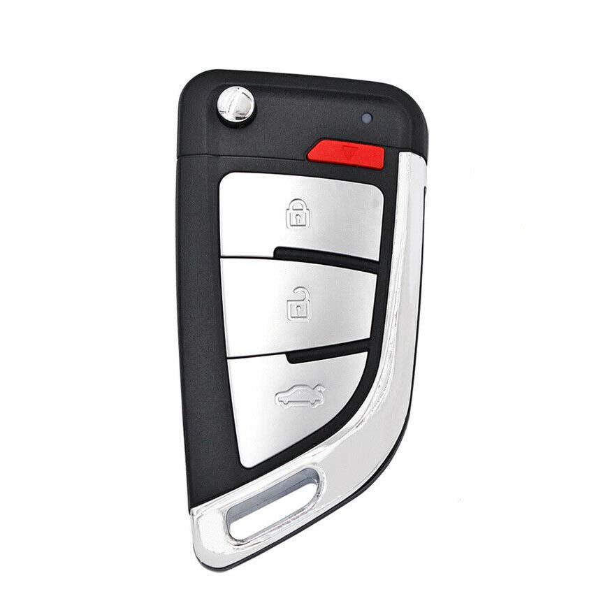 LOCKSMITHOBD 10PCS/LOT ْXhorse XEKF20EN  Universal Super Remote Flip Key 4 Buttons BMW Type