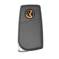 LOCKSMITHOBD 10PCS/LOT Xhorse VVDI Universal Wired Flip Remote Key 3 Buttons Toyota Type XKTO00EN
