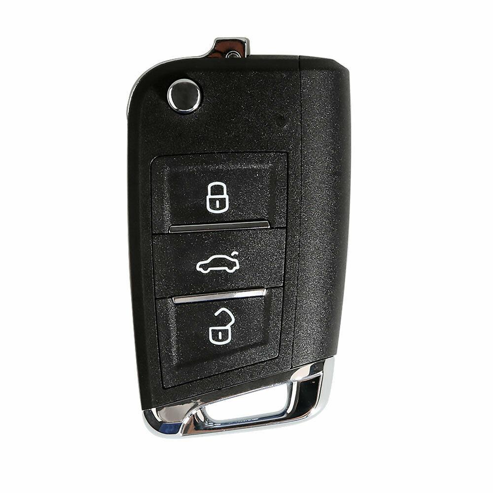 LOCKSMITHOBD 10PCS/LOT Xhorse XKMQB1EN Wire Remote Key For MQB Flip 3 Buttons for VVDI Key