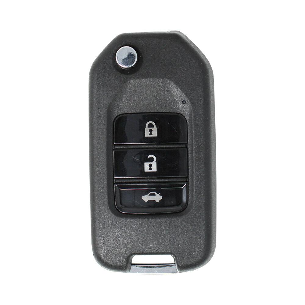 LOCKSMITHOBD 10PCS/LOT ْXhorse VVDI Universal Wireless Flip Remote Key 3 Buttons Honda Type XNHO00EN